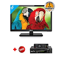 "NTV2050LED1 - 20"" - HD Analog LED TV - Black + FREE Skylife Decorder"