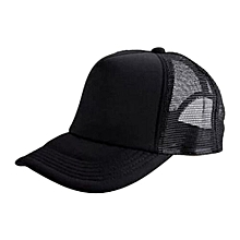 New Arrival Adjustable Child Solid Casual Hats For New Classic Trucker Summer Kids Baseball Golf Mesh Cap Sun Hats(Black)