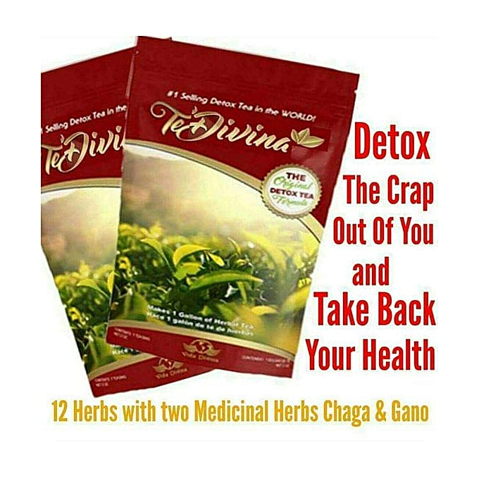 Te Divina Detox Cleanser Fat Burning Tea With 12 Herbs Infused In 1