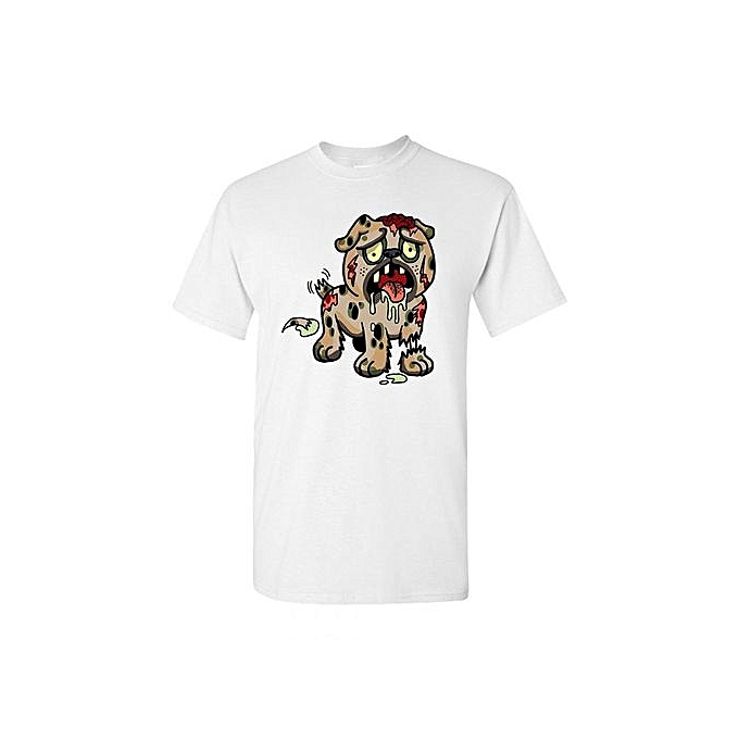d58eae553f9f Zombie Dog Undead Animals Adult DT T-Shirt Fashion O-Neck Short Sleeved T