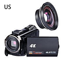 Digital HD Video Camera 4K WiFi Ultra 1080P 48MP 16X ZOOM Camcorder+Microphone+Wide Angle Lens Home Use Camera Video Recorder KANWORLD