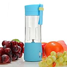 USB Mini Electric Fruit Juicer Handheld Smoothie Maker Blender Juice Cup 380ml Blue