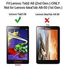 """For Lenovo Tab3 8 Case, Ultra Slim Hard Case + PU Leather Smart Cover Stand For 8.0"""" Tablet TB3-850/Tab2 A8-50, Red"""