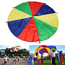 6Ft 8 Handles Kids Play Rainbow Parachute Children Outdoor Game Sport Exercise