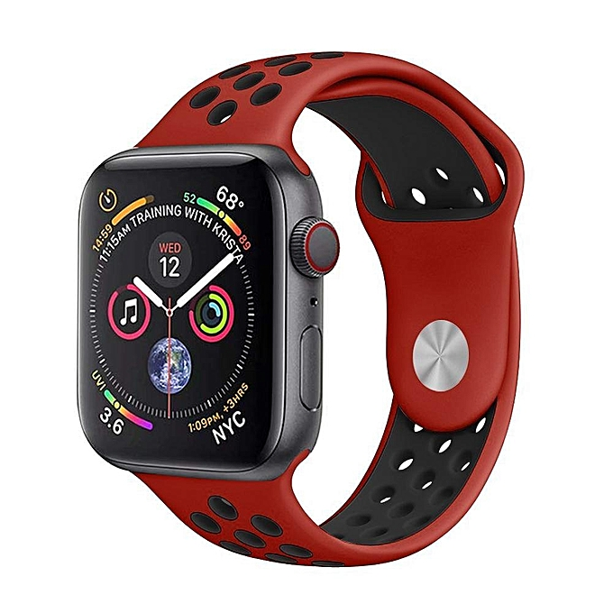 Compatible For Apple Watch Straps, Soft Silicone Sport Replacement Bands for iWatch Series 4/