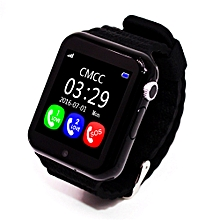 GPS Bluetooth Smart Watch For Kids Boy Girl Apple Android Phone Support SIM TF Dial Call And Push Message Black