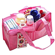 Olivaren Mummy Bottle Storage Multifunctional Separate Nappy Maternity Bag Pink -Pink