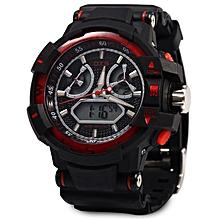 Men Digital Luminous Quartz Watch - Red