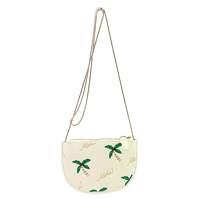 37a42f1b07 2Colors Mini Women Coconut Tree Handbag PU Shoulder Messenger Bag