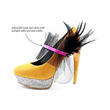ARI Asymmetrical Pleated Ankle Cuff- Multi Purpose Jewellery - Fuscia
