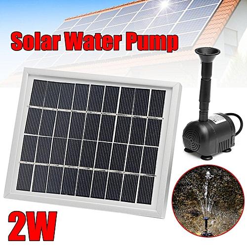 200l H 2w Solar Panel Ed Water Feature Pump Garden Pond Aquarium Fountain