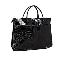 Black Snake-Embossed Women Tote Bag