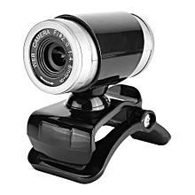 Clip-on 360 Degree 12 Megapixel HD Webcam Web Camera with Microphone Black+Silver