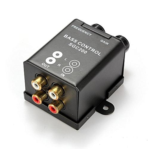2pcs Car Home Amplifier RCA Gain Level Volume Knob Booster Audio Stereo  Bass Control