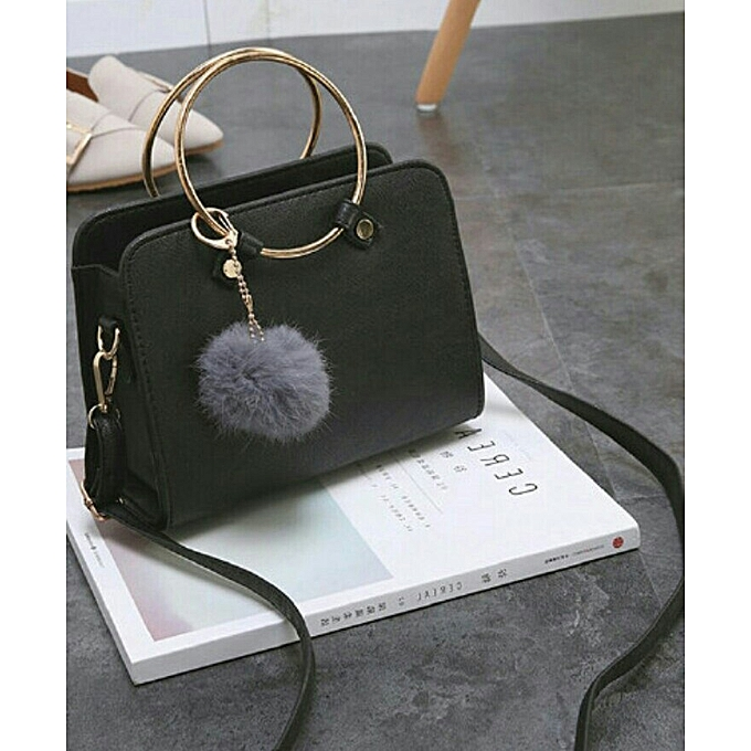 63cd79fc19b6 Women Metal Ring Handbag PU Leather Shoulder Tote Bag Ladies Messenger  Cross-body Jungle Green