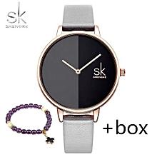 Luxury Top Brand Women Watches Quartz Clock Leather Fashion