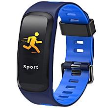 NO.1 F4 Colorful Sports Smart Bracelet IP68 Waterproof Heart Rate / Sleep / Blood Pressure / Blood Oxygen Monitor - BLUE
