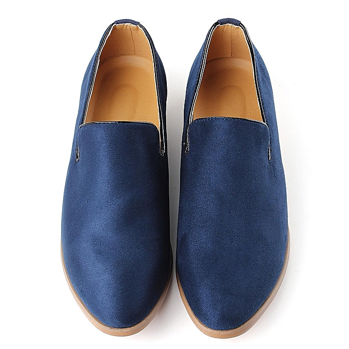 2004c1700a4 ... New Fashion Men s Casual Slip On Loafer Shoes Moccasins Driving Shoes  US Size blue-EU ...