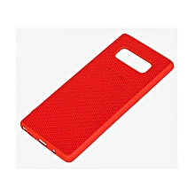 Galaxy Note 8 Soft Silicon Weave Pattern Case - Red