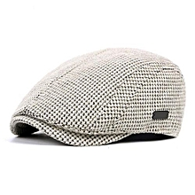 Fashion Mens Cotton Gatsby Flat Beret Cap Adjustable Ivy Hat Golf Hunting Driving Cabbie Hat