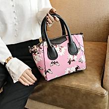 Women Small Satchel bag Flower Butterfly Printed Shoulder Bag Crossbody Bag PK