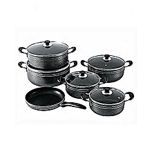 11 Piece Non-Stick Pots & Pans/ black