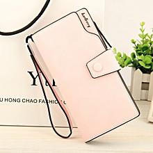 New Fashion Baellerry Women High Quality PU Leather Long Wallet Handbag Card Holder Coin Purse Pink