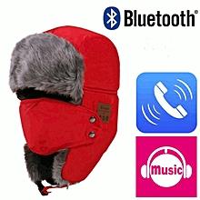 Wireless Bluetooth Music Hat Red