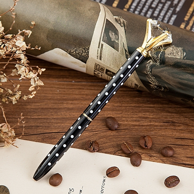 Buy Generic 3 PCS School Stationery Office Supplies Crystal Ball Pens Ballpen Large Diamond Ballpoint Pens With round dot pattern @ Best Price Online ...