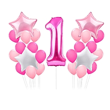 jummoon shop 20pcs Metallic Glossy One Year Old First Birthday 1 Month Number Float Balloon
