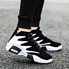 Men's shoes tide black and white color trend sports shoes men's casual shoes-White