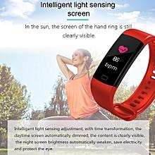 Color ScreenSmart Bracelet Man Bluetooth Y5 Wristwatch Women Sport Fitness Track Pedometer Hear Rate Blood Pressure Monitor Fitness Bracelet (Red) XAA-S
