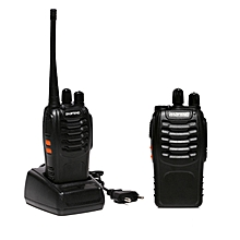 LEBAIQI 2PCS Baofeng Walkie Talkie BF-888S Two-way Portable CB Radio (Black)