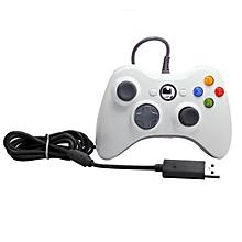 CO Gamepad For Microsoft Xbox 360 USB Wired Controller Ergonomic Joypad-white