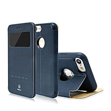 """Baseus Terse Series Flip Leather Case For IPhone 7 Plus 5.5"""" Plus Ultra Thin Smart Sleep Phone Cases Cover For IPhone 7 Plus 5.5 """" Case(Dark Blue)"""