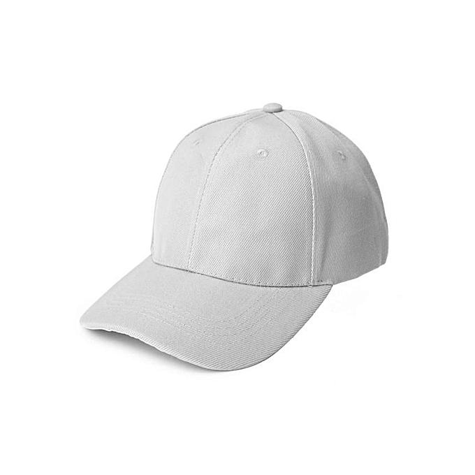 8291b42d9ab Buy Generic White Plain Baseball Hat   Best Price