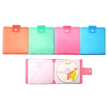 LEORY 12pcs Candy Color Capacity Disc Wallet Storage Holder Carry Organizer CD DVD Holder Box Case Portable