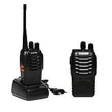 2PCS Baofeng Walkie Talkie BF-888S Two-way Portable CB Radio (Black)