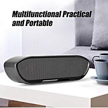 Portable Speaker Wireless Portable Bluetooth Hi-fi Stereo Speaker Memory Function Loudspeaker Music Box Black