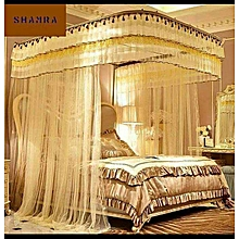 Mosquito Net With 2 Stands(WITH RAILS) - CREAM