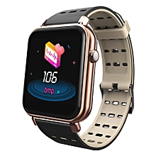 Y6 Pro 1.3 inch TFT Color Screen Smart Bracelet IP67 Waterproof, Silicone Watchband,Support Call Reminder /Heart Rate Monitoring /Blood Pressure Monitoring /Sedentary Reminder /Sleep Monitoring (Gold)