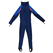 Full Body One-piece Elastic Sunscreen Wet Suit For Swim Scuba Diving Surfing(Women M)