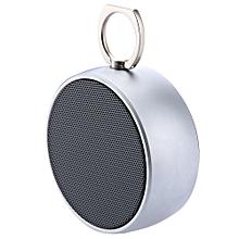 Trangu BS - 02 Portable Wireless Water-resistant Metal Bluetooth Speaker With Microphone-SILVER