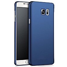 Ultra Slim Fit Shell Hard Plastic Full Protective Anti-Scratch Resistant Cover Case for iPhone Samsung Galaxy Note 5 (Silky Blue) XBQ-A
