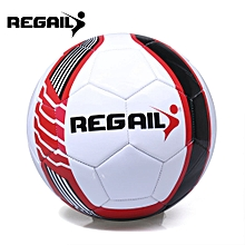 Size 5 PU Shooting Star Shape Training Soccer Ball Football-BLACK AND WHITE AND RED