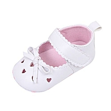 cfd07b10164ad bluerdream-Newborn Infant Baby Girls Crib Shoes Soft Sole Anti-slip  Sneakers Bowknot Shoes