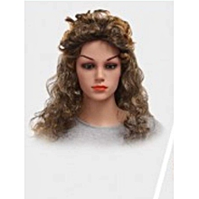 Coffee Black Big Wave Long Curls Carnival Party Wig