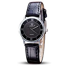 guoaivo SBAO Fashion Retro Simple Temperament Couple High-grade Business Watch - black