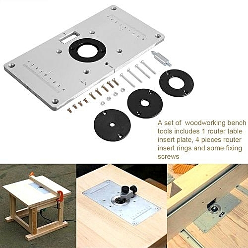 Buy universal tmishion 2351208mm aluminum router table insert tmishion 2351208mm aluminum router table insert plate with 4 rings and screws greentooth Images
