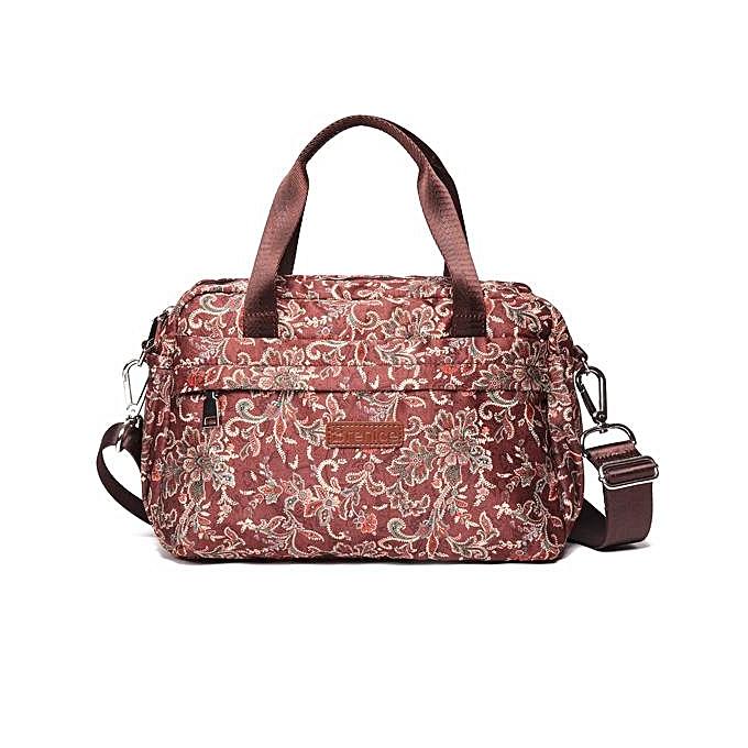 32b1607cc594 Generic Brenice leisure life lightweight large handbags ethnic retro  printed nylon cloth handbag shoulder bag